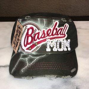 Accessories - 🌴Camafloge Green Distressed Baseball Mom Hat